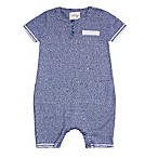Cuddl Duds® Size 3M Sweater Knit Shortalls in Blue
