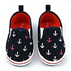 Rising Star™ Size 3-6M Anchor Twin Gore Shoe in Navy/Red