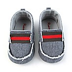 Rising Star™ Size 3-6M Fray Twin Gore Shoe in Grey