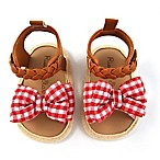 Rising Star™ Size 3-6M Gingham Sandal in Red
