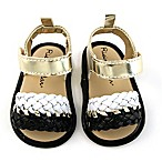 Rising Star™ Size 6-9M Braided Sandal in Black