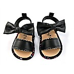 Rising Star™ Bow Size 6-9M Sandal in Black