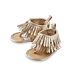 Rising Star™ Size 0-3M Metallic Fringe Sandal in Gold