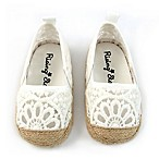 Rising Star™ Size 0-3M Lace Espadrille Shoe in White