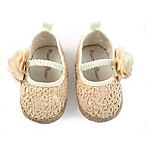 Rising Star™ Espadrille Flower Size 0-3M Sandal in Natural