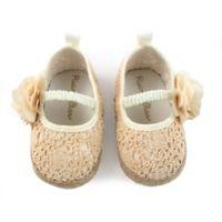 Rising Star™ Espadrille Flower Size 0-3M Sandal in Natural
