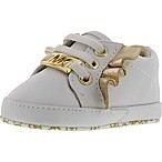 Michael Kors® Gold Wings Baby Rail Size 3-6M Infant Sneaker in White