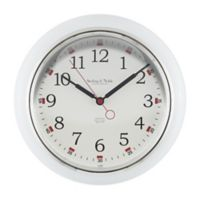 Sterling & Noble Kitchen Round Wall Clock in White