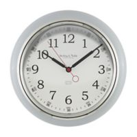 Sterling & Noble Kitchen Round Wall Clock in Grey