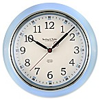 Sterling & Noble Kitchen Round Wall Clock in Light Blue