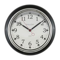 Sterling & Noble Kitchen Round Wall Clock in Black
