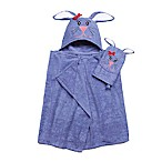 Bunny Hooded Bath Wrap with Mitt in Purple