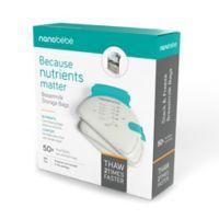 Nanobebe 50-Pack Breast Milk Storage Bags