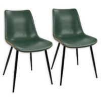 LumiSource Durango Dining Chairs in Black/Green (Set of 2)