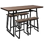 LumiSource Geo 5-Piece Counter Set in Brown/Black