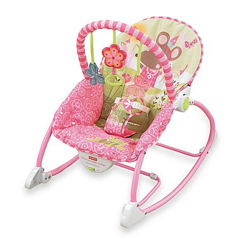 Fisher price infant to toddler rocker pink buybuy baby for Silla nido fisher price