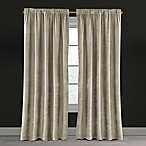 Velvet Plush Nest 84-Inch Rod Pocket/Back Tab Lined Window Curtain Panel in Beige
