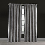 Velvet Plush Nest 95-Inch Rod Pocket/Back Tab Lined Window Curtain Panel in Mushroom