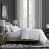 Flatiron® Hotel Satin Stitch Full/Queen Duvet Cover in White/Ivory