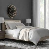 Flatiron® Hotel Satin Stitch Full/Queen Duvet Cover in Grey/White