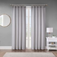 Seychelle 108-Inch Rope Window Curtain Panel in Stone