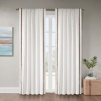 Julia 108-Inch Rod Pocket Room Darkening Window Curtain Panel in White