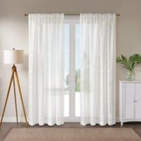 St. Thomas 95-Inch Rod Pocket Window Curtain Panel in White