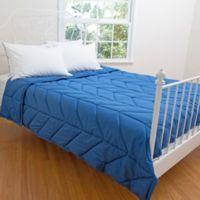 Allied Home Chevron Down Alternative Queen Blanket in Blue