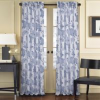 J. Queen New York™ Amanda Sheer 63-Inch Rod Pocket Window Curtain Panel in Blue