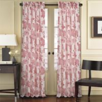 J. Queen New York™ Amanda Sheer 84-Inch Rod Pocket Window Curtain Panel in Red
