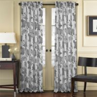 J. Queen New York™ Amanda Sheer 84-Inch Rod Pocket Window Curtain Panel in Black