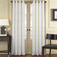 J. Queen New York Aster 84-Inch Grommet Top Window Curtain Panel in White