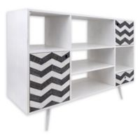 Yosemite Home Décor Olas Room Divider Sideboard in White/Grey