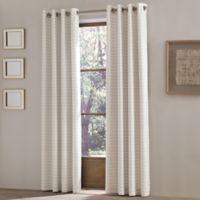 J. Queen New York Essex 84-Inch Grommet Top Window Curtain Panel in White