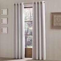 J. Queen New York Essex 63-Inch Grommet Top Window Curtain Panel in Silver