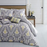 Azalea Skye® Global Ikat Reversible King Duvet Cover Set in Grey