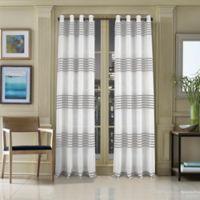 J. Queen New York™ Freeport 95-Inch Grommet Top Window Curtain Panel in Taupe