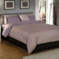 True Stuff Mosaic Reversible King Duvet Cover in Plum