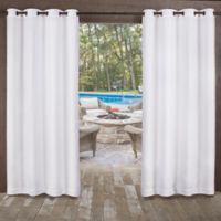 Miami 96-Inch Indoor/Outdoor Grommet Top Window Curtain Panel Pair in White