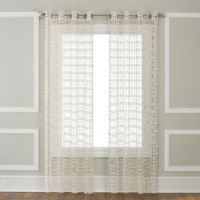 Amelia 108-Inch Grommet-Top Window Curtain Panel in Ivory