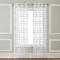 Amelia 63-Inch Grommet-Top Window Curtain Panel in White