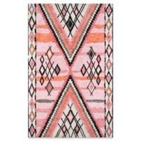 Momeni Margaux Geometric 5' x 7'6 Area Rug in Pink