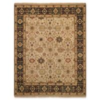 Capel Rugs Biltmore Gloria-Kuba 6' x 9' Area Rug in Beige/Ebony