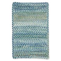 Capel Rugs Ocracoke Braided 1'8 x 2'6 Accent Rug in Light Blue