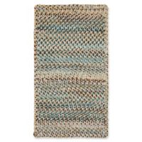 Capel Rugs Ocracoke Braided 1'8 x 2'6 Accent Rug in Deep Blue