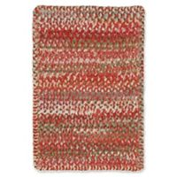 Capel Rugs Ocracoke Braided 1'8 x 2'6 Accent Rug in Pink