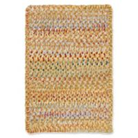 Capel Rugs Ocracoke Braided 1'8 x 2'6 Accent Rug in Amber