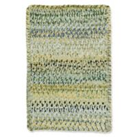 Capel Rugs Ocracoke Braided 1'8 x 2'6 Accent Rug in Pale Green