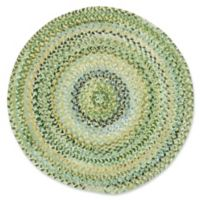 Capel Rugs Ocracoke Braided 5'6 Round Accent Rug in Pale Green