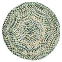 Capel Rugs Ocracoke Braided 5'6 Round Accent Rug in Deep Blue